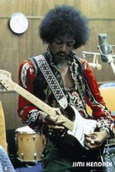 Jimi Hendrix in the Studio (24x36) - MUS00982