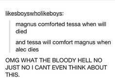 Alec and Magnus and Tessa and Will | TMI TID Shadowhunters
