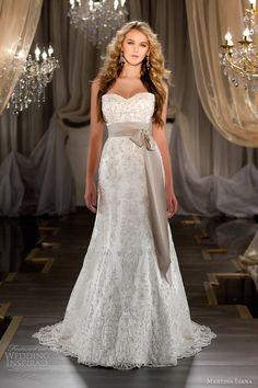 martina liana fall 2012 strapless wedding dress