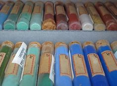 Edward Waldo Forbes' pigment collection at the Harvard Art Museums.