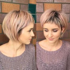 Rose Gold Layered Bob