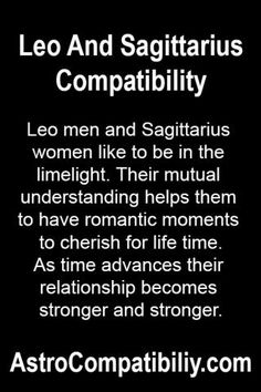 Dating Man Woman Sagittarius A Leo the