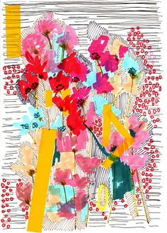 floral doodle by jo chambers