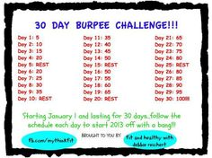burpee challenge | 30 Day Burpee Challenge - Fit and Healthy with Debbie