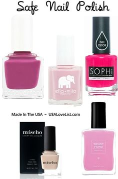 Six Of The Best and Least Toxic Nail Polish Options On The Market via http://USALoveList.com