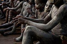 Pygmy Boys in nKumbi Manhood Ritual   Epulu, DR Congo