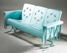 My whole life I have loved these gliders. Now they are vintage and boy this turquoise one makes me scream.