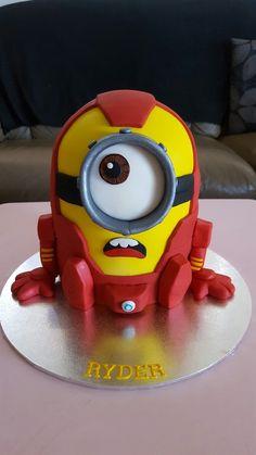 Ironman minion cake. Avengers minion cake.
