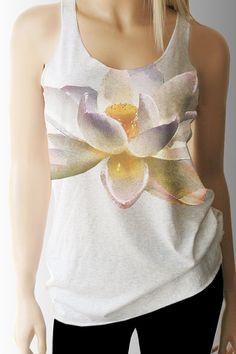 Lotus Yoga Tank. Yoga Top. Yoga Clothing. Womens by TShirtAddict