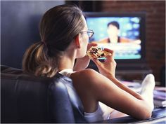 Turn Off the TV    You know you probably shouldnt, but sometimes you eat in front of the TV or computer. But do you know how much it affects your waistline? Studies show that we eat around 40 percent more when watching TV and were more likely to eat junk food while distracted. To lose weight without major sacrifice, power down your TV, computer or smart phone during dinner and concentrate only on your meal. getting-healthy
