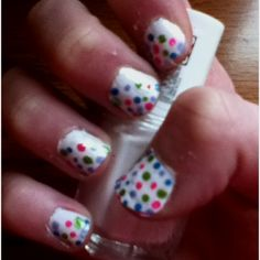 My polkadot nails!