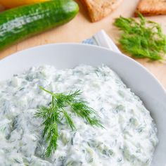 Such a versatile dip...and still healthy! Get the recipe for this #tzatziki #sauce here: