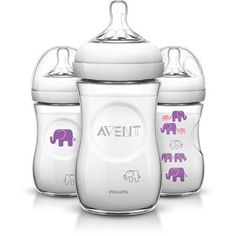Philips AVENT Elephant 9oz Bottle, BPA-Free, 3-Pack (Choose Your Color) - Walmart.com