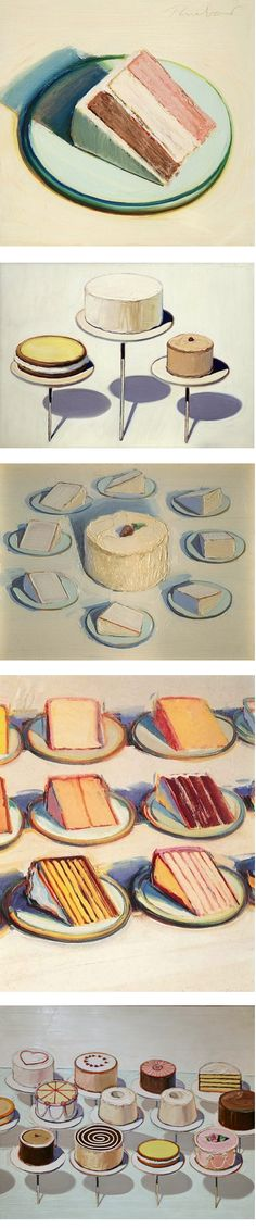 wayne thiebaud art----   canvas pieces for a neutral color kitchen