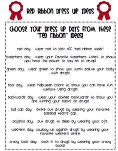 Red Ribbon Week from The Teachers Chatterbox on TeachersNotebook.com (6 pages)