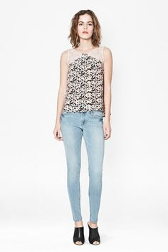 Marble Sleeveless Lace Top