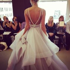 Inspiring wedding gown with perfect ruffles and a stunning silhouette