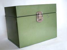 Industrial Metal Storage Box w Key    Hamilton by @SwirlingOrange11