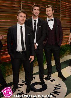 Chris Hemsworth, Liam Hemsworth and Luke Hemsworth at the Vanity Fair Oscar Party!