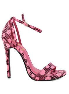Polka Dots Strappy Open Toe Ankle Strap Sandal Heels Women's Stilettos ** Find out more details by clicking the image : Lace up sandals