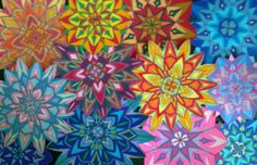 Mandalas created with felt pen, cut out ready to be applied to hand made cards