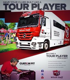 The Wilson Tour Truck is here all weekend with a build why you wait service! #Golf #Wilson #TourTruck