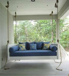 Full size porch bed for master bedroom porch....porchbeds.biz.....yayy