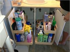 Under Sink Pull Out Shelves Bathroom Storage Miami By Shelfgenie Of Miami
