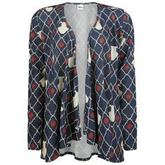 """Beauty and the Beast Cardigan, Women """"Red Roses"""" multicolour Order online at EMP"""