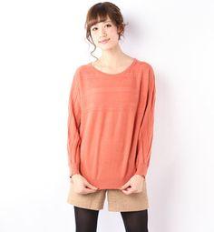 Dolman sleeve sweater / ShopStyle: ViSケーブル柄使いドルマンプルオーバー