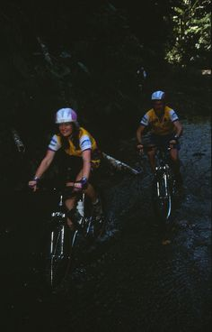 """Patty Mooney and Mark Schulze mountain bike to Turrialba Volcano, Costa Rica (1994) during the filming of """"Full Cycle: A World Odyssey"""" produced by San Diego video production company, Crystal Pyramid Productions - http://sandiegovideoproduction.com/full-cycle-world-odyssey/"""
