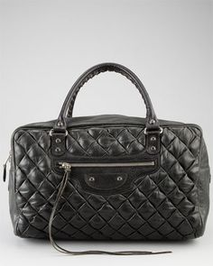 Balenciaga Black Leather Quilted Matelasse GM Bag - don't you just want to tough it?!