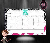 Monogrammed Desk Pad, Desk Blotter, Desk Calendar
