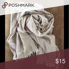 Anthropologie Tan Beige Scarf Summer In excellent preowned condition. Tags removed. Anthropologie Accessories Scarves & Wraps