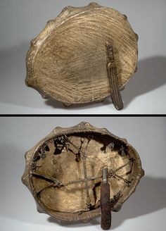 Front and back of a Sakha shaman's drum American Museum of Natural History