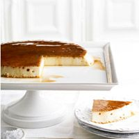 BHG's Newest Recipes:Vanilla Flan with Butterscotch Sauce Recipe