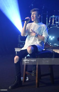 Johnny Orlando performs during the 'Day & NIght' tour at Mr Smalls on October 28, 2017 in Millvale, Pennsylvania.