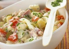 Salade piémontaise recette Weight Watchers - Recette WW - The Best For Dinner Recipes Healthy Recipes For Diabetics, Healthy Lunches For Kids, Healthy Gluten Free Recipes, Healthy Pasta Recipes, Pureed Food Recipes, Chef Recipes, Diabetic Meals, Plats Weight Watchers, Weight Watchers Meals