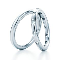 "Brides.com: Platinum Wedding Rings for Women Style 8384, ""Channel-Set Full Eternity Wedding Band,"" set with baguette diamonds, 3mm in width, $6,000, De Beers  See more De Beers wedding rings.Photo: Courtesy of De Beers"