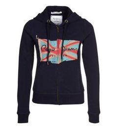 Sweat zippé Pepe Jeans CORA bleu prix promo Zalando 75,00 € TTC