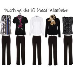 """""""Working the 10 Piece Wardrobe"""" by annabouttown on Polyvore"""