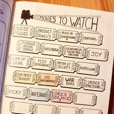 "297 curtidas, 13 comentários - Didy Panpie (@didypanpie) no Instagram: ""So many movies to watch, and so little free time  #bulletjournal #bulletjournallove #bujo…"""
