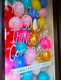 coming soon window display ... whilst we're working on it instead of whitewashing the glass
