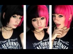 Dying My Hair Pink and Black! | HeyThereImShannon - YouTube