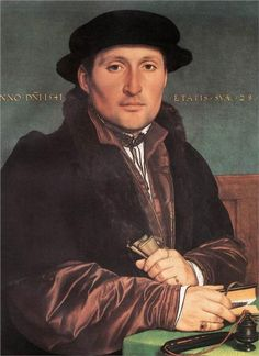 Unknown Young Man at his Office Desk, 1541  Hans Holbein the Younger