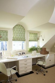 Roman shades, arched window by Alicia Bertelle