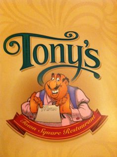 If you are looking for excellent Italian food in Disney World, check out Tony's Town Square Restaurant! Disney Dogs, Disney Art, Disney Movies, Disney Pixar, Walt Disney, Tonys Town Square Restaurant, Disney Scrapbook, Scrapbooking, Scrapbook Layouts