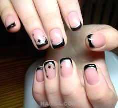 Easy French Nail Design Ideas / Attractive Lovely Gel Nail Art Previous Post Next Post Reverse French Nails, Summer French Nails, French Nail Art, French Nail Designs, French Tip Nails, Simple Nail Designs, Blue Nails, Matte Nails, Gel Nails