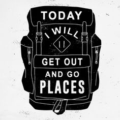Nice backpack design, not a fan of the type, but i like the quote. Typography, Lettering, Word Up, Book Club Books, Travel Quotes, Inspire Me, Wise Words, Introvert, Quotations