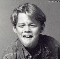 The tough guy: | Awesome Photos Of Young Leonardo DiCaprio Showing Off His Emotional Range